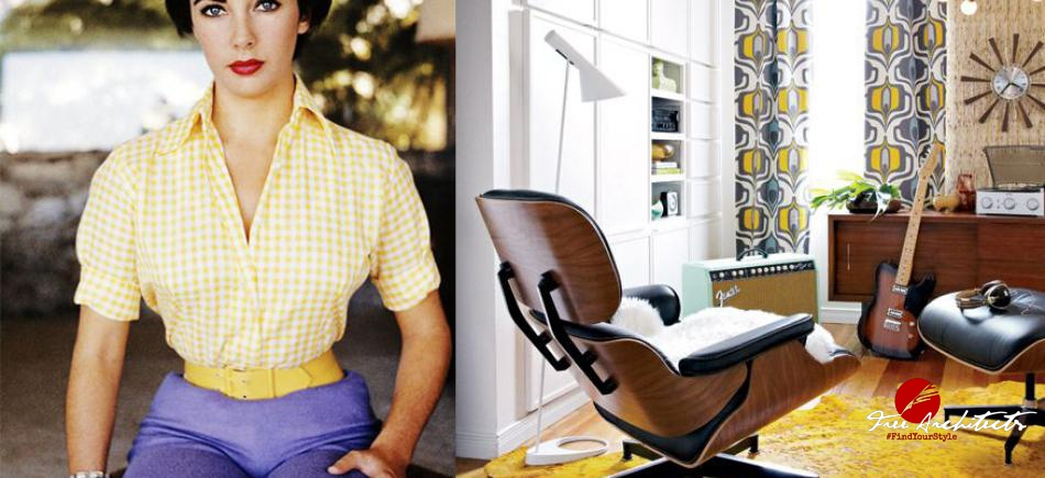 Eames chair v retro inspiraci z pinterestu